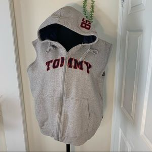 Tommy Hilfiger Spell Out Tommy Sleeveless Hoodie
